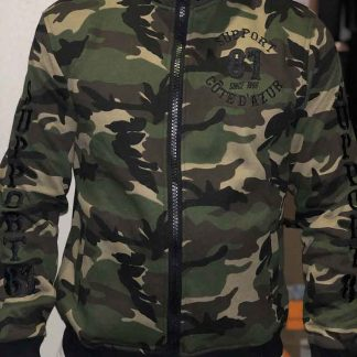 Gilet camouflage support 81 côte d'azur
