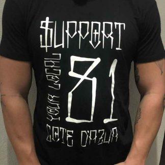 T-shirt gothique noir