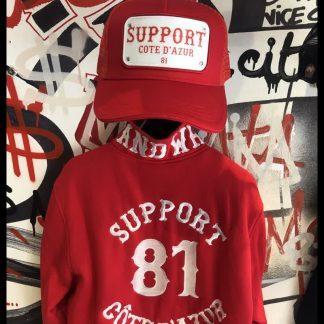 Support 81 Côte d'Azur casquette rouge