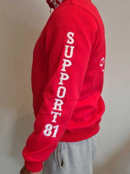 Sweat Rouge Support 81 Côte d'Azur